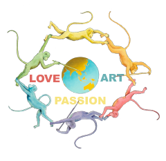 Logo of LoveArtPassion™. Oil painting. Artist & Founder Chris Staebler. Switzerland