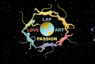 Logo of www.LoveArtPassion.com, artist & founder Chris Staebler.