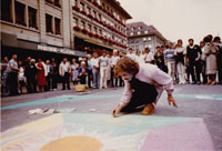 Mandalas Art. Street Art in Swiss, 1980. Artist & Founder Chris Staebler.